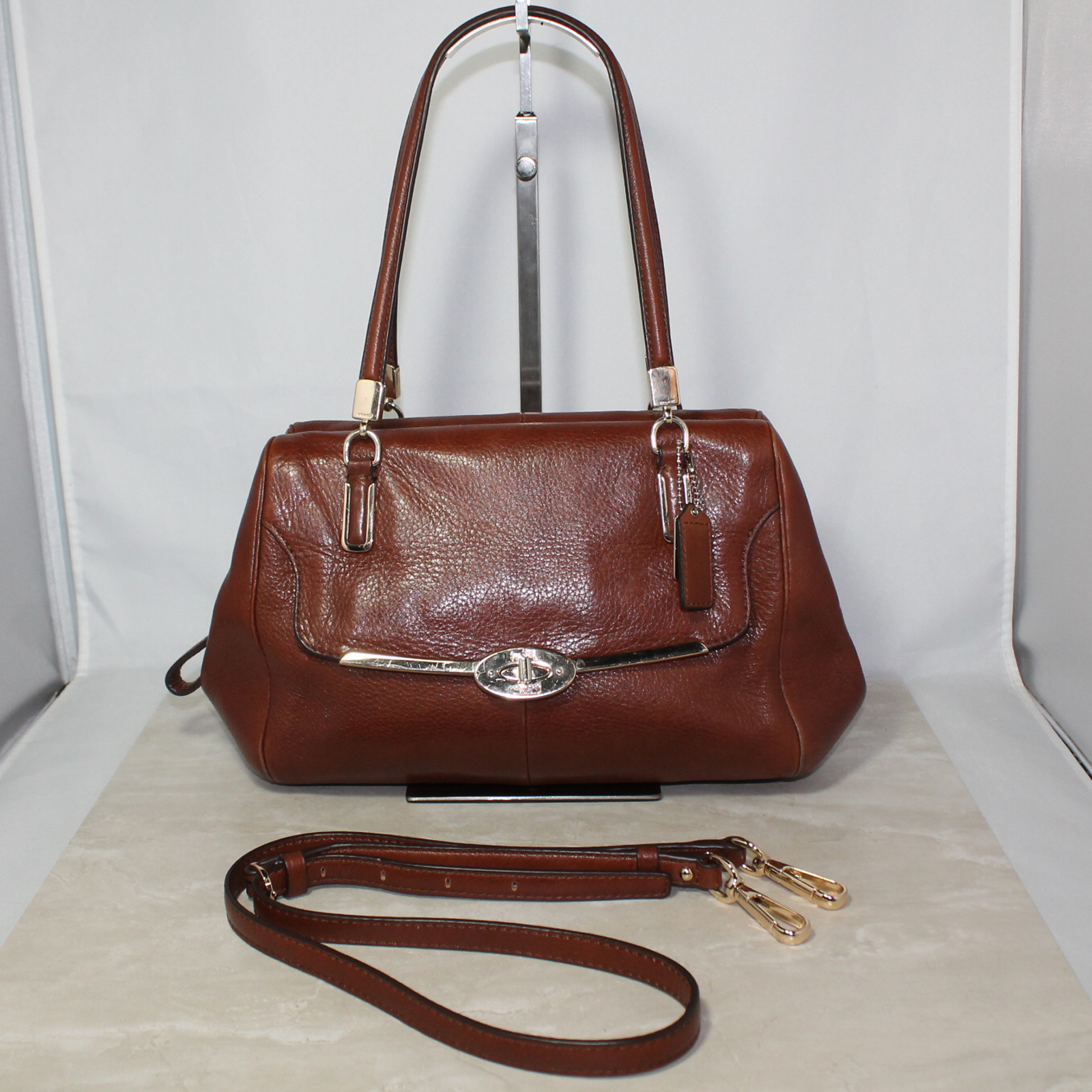55ec4dd97f Coach Madison Leather Small Madeline East West Cranberry 25169
